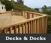 Decks & Docks, Coulter Construction, P.O. Box 1064 Lower Lake CA, (707) 995-2126 or (707) 350-1980